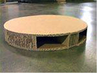 Round pallet for round application