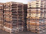 Repaired pallets for resale